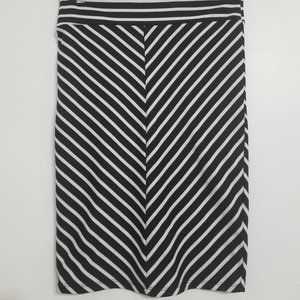 Mendocino Black and White Pencil Skirt